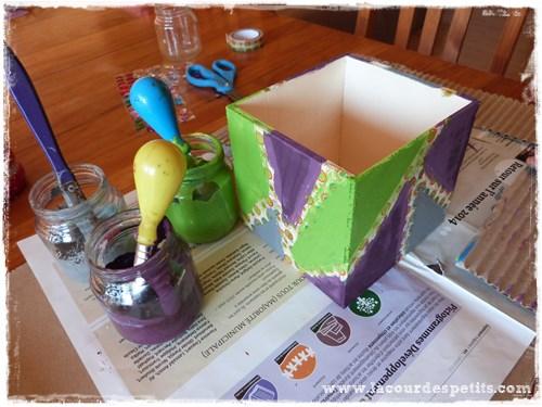 D corer une bo te en bois avec les tendances d 39 emma concours la cour d - Peindre une boite en bois ...