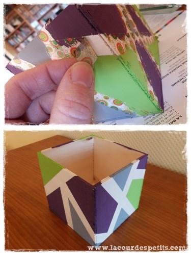 boite en bois washi tape peinture