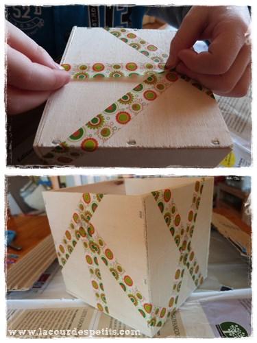 decorer boite en bois washi tape