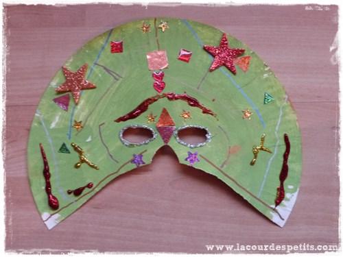 masque assiette carton