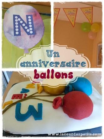 anniversaire theme ballons