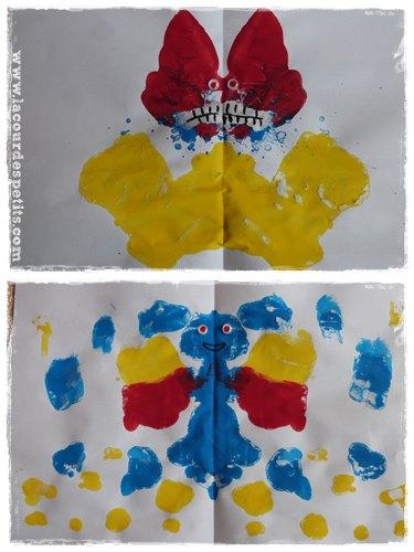arts visuels symetrie monstre