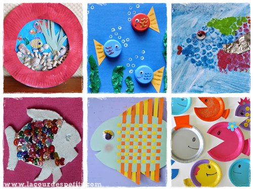 12 bricolages poissons pour le 1er avril la cour des petits. Black Bedroom Furniture Sets. Home Design Ideas