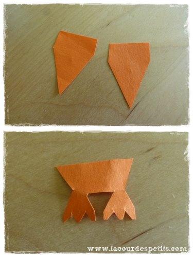 bricolage poussin papier