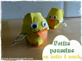 bricolage poussin paques oeuf