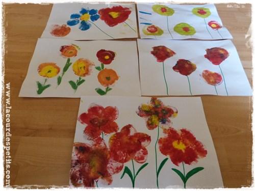 peinture au ballon des fleurs pour le printemps la cour des petits. Black Bedroom Furniture Sets. Home Design Ideas
