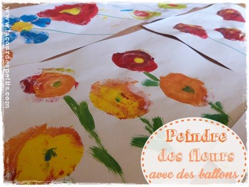 peinture au ballon bricolage printemps