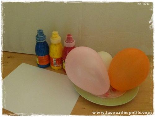 peinture ballon materiel