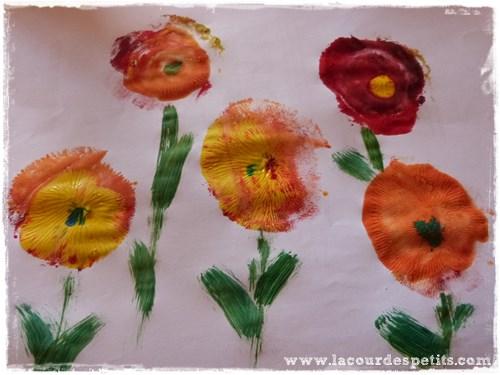 peinture fleur enfant