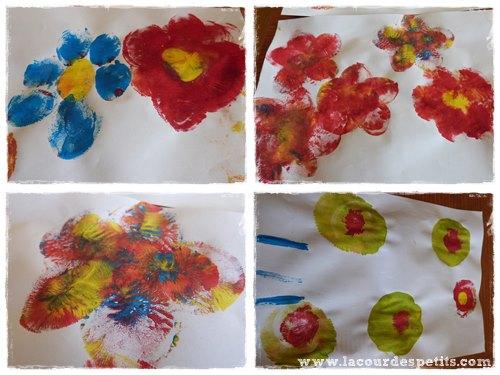 peinture fleur maternelle