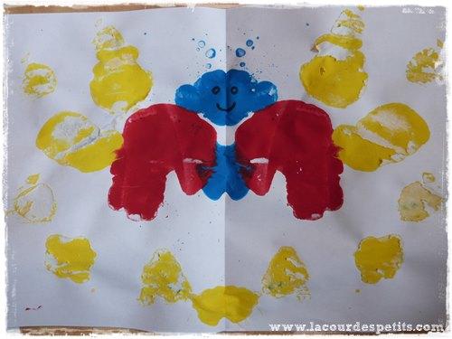 peinture symetrique monstre