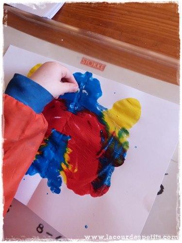peinture symetrique enfant