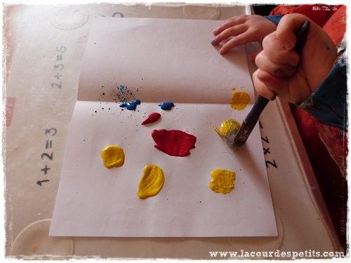 peinture symetrique pinceau