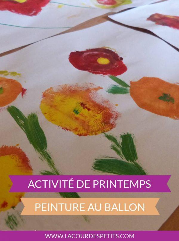 Activité de printemps : peinture au ballon