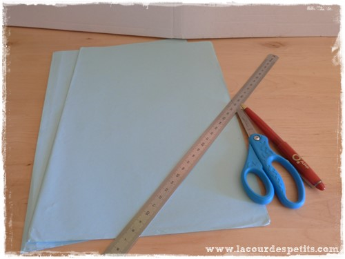 faire fleur papier materiel
