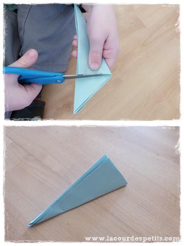 fleur en papier kirigami