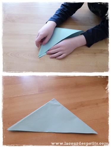 fleur en papier origami