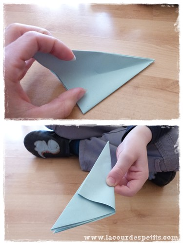 fleur en papier pliage