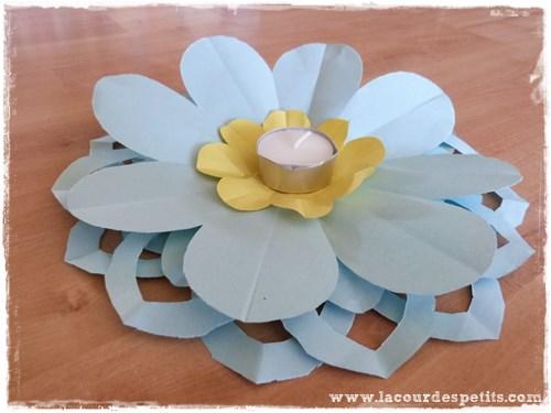 Faire des fleurs en papier kirigami la cour des petits - Porte photo fait maison ...