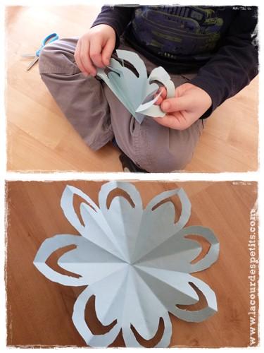 modele fleur kirigami