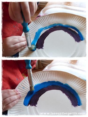 peinture enfant arc en ciel