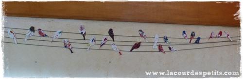 Diy une guirlande d co faite maison la cour des petits for Decoration murale oiseau