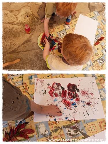 peinture empreinte enfant
