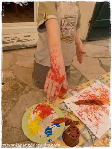peinture enfant exterieur