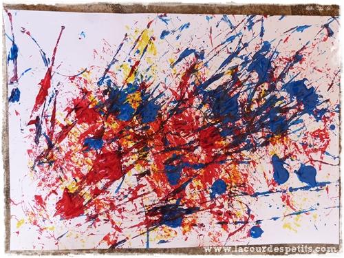 peinture enfant feuille arbre