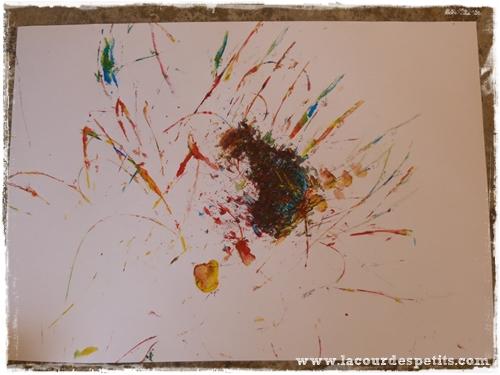 peinture enfant plante