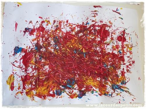 peinture enfant rateau
