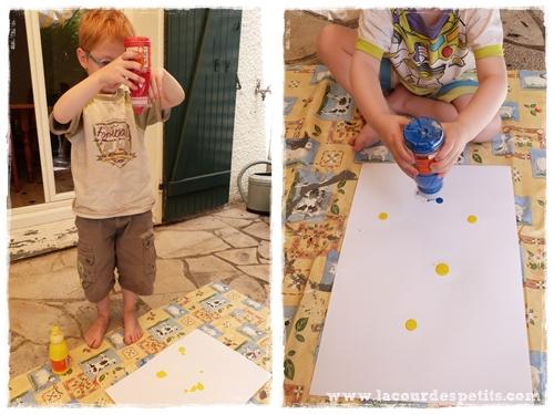 peinture jardin enfant