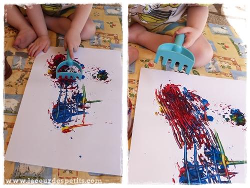 peinture rateau enfant