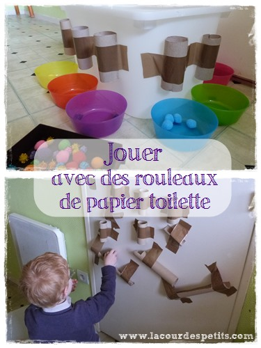 un jeu en rouleaux de papier toilette la cour des petits. Black Bedroom Furniture Sets. Home Design Ideas