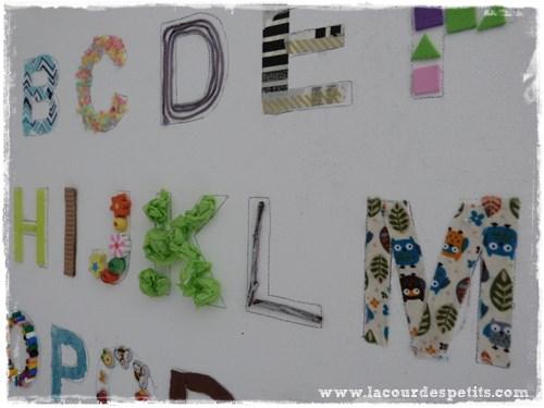 abecedaire DIY