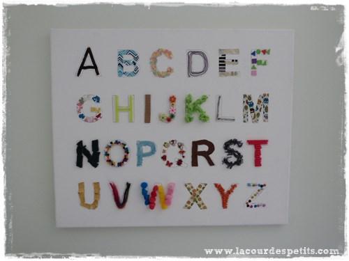 bricolage alphabet