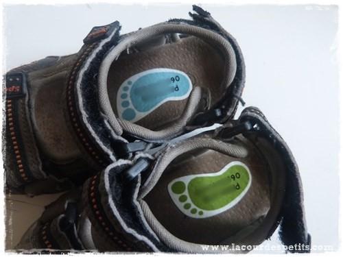 etiquettes chaussures utilisees