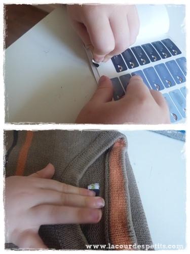 etiquettes pull facile