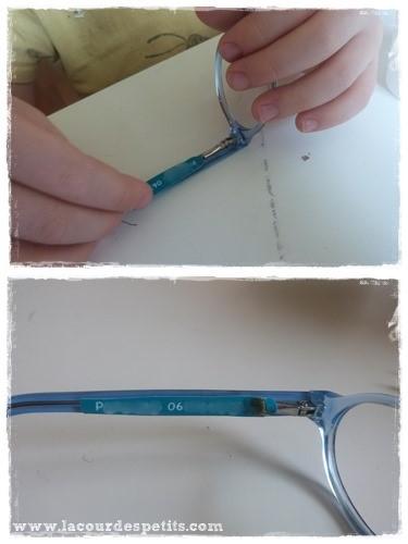 mini etiquettes lunettes