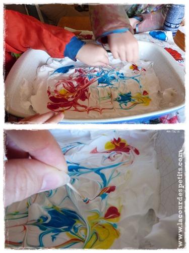 bricolage papier marbre