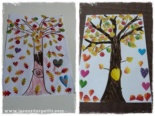 arbre gommette colorie