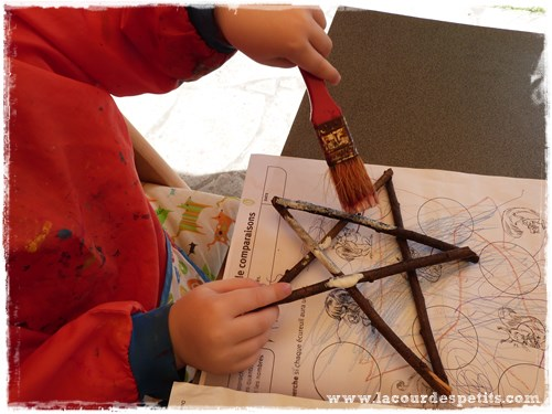bricolage etoile enfant