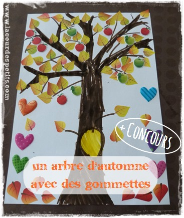 collage automne gommette