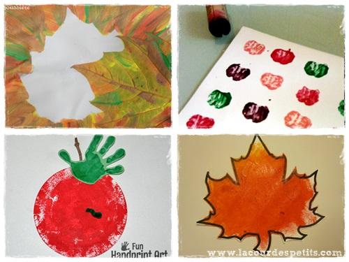 peinture automne maternelle