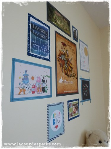 mur de cadres enfant