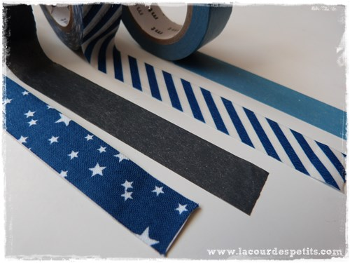 washi tape bleu