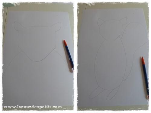 dessin silhouette animaux