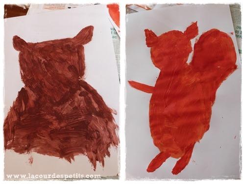 peinture ecureuil enfant