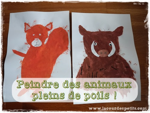 peinture fourrure enfant