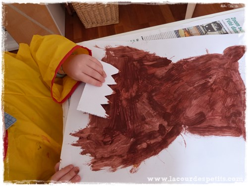 peinture peigne enfant